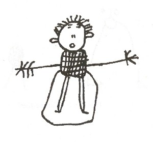 Dibujo de Finn y jake en la pared